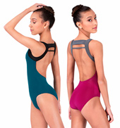 Adult Tank Leotard With High Double Strap Back