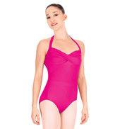 Adult Twist Front Halter Leotard