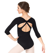 Adult 3/4 Sleeve Leotard with Back Strap