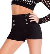 Adult High Waist Sailor Dance Shorts