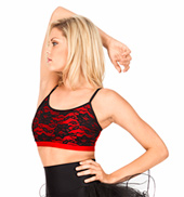 Adult Lace Overlay Camisole Bra Top