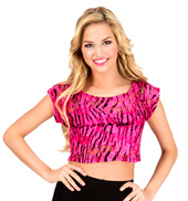 Adult Zebra Lace Crop Top