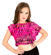 Child Zebra Lace Crop Top