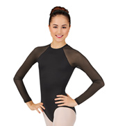 Adult Powermesh Long Sleeve Leotard