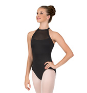 Adult Powermesh Bodice Halter Leotard