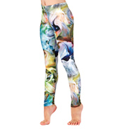 Girls Abstract Swirl Leggings