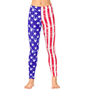 Girls American Flag Leggings