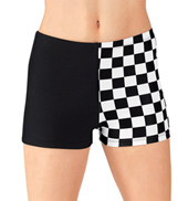 Adult Checkered Dance Shorts