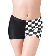 Girls Checkered Dance Shorts
