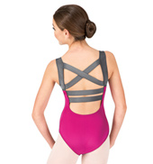 Girls Contrast Strap Tank Leotard
