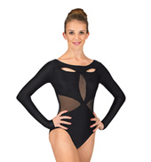 Adult Powermesh Cutout Long Sleeve Leotard
