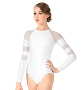Adult Long Sleeve Mesh Leotard