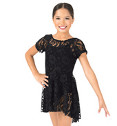 Girls Lace Cap Sleeve Dress