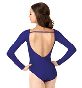 Child Deep V-Back Long Sleeve Leotard