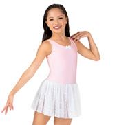 Girls Lace Bow Back Tank Dress