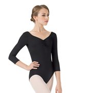 Adult 3/4 Sleeve Pinched Front Leotard