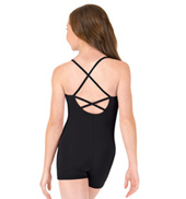 Girls Criss-Cross Back Camisole Biketard