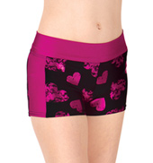 Girls Sweetheart Two-Tone Active Dance Shorts