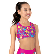 Girls Sunset at the Beach Active Tank Bra Top