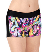 Girls Feather Active Dance Shorts