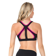 Adult Cora Pink Trim Tank Bra Top