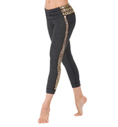 Adult Madison Leopard Saddle Seaming Leggings