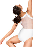 Adult Dot Mesh Tank Leotard
