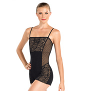 Adult Pointe DEsprit Shorty Unitard