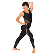 Adult Zebra Lace Tank Unitard