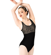 Adult Floral Lace Tank Leotard