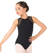 Child Mesh Tank  Zip Front Leotard