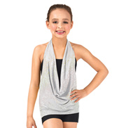 Child Drapey Front Halter Top