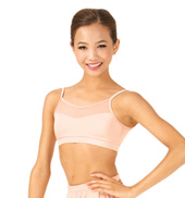 Child Mesh Neckline Camisole Dance Bra Top