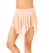 Child Uneven Hem Drapey Dance Skirt