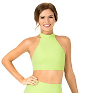 Adult Double Strap Halter Dance Crop Top