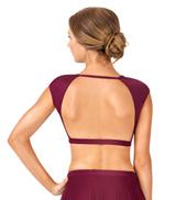 Adult Cap Sleeve Open Back Dance Crop Top
