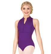 Girls Powermesh Zip-Front Tank Leotard