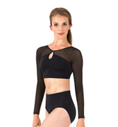 Womens Tiler Peck Long Sleeve Dance Crop Top