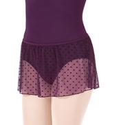 Girls Dot Mesh Pull-On Skirt