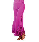 Adult Split Ruffle Ballroom Pants
