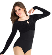 Adult Velvet Long Sleeve Pullover Sweater
