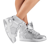 Adult Glam Pie Glitter Silver Sneakers