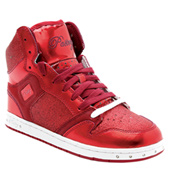 Adult Glam Pie Glitter Red Sneakers