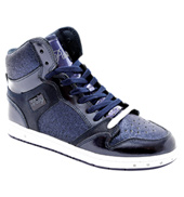 Adult Glam Pie Glitter Navy Sneakers