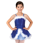 Child Feather-Trimmed Sequin Camisole Dress
