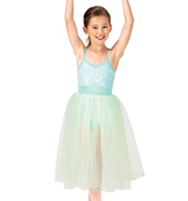 Child Romantic Sequin Camisole Tutu Costume Dress