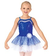 Child Bustled Sequin Camisole Tutu Costume Dress