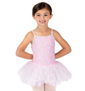 Child Floral Lace Camisole Tutu Costume Dress