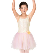 Child Two-Tone Sequin Camisole Tutu Costume Dress