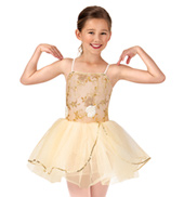 Child Beaded Flower Camisole Tutu Dress